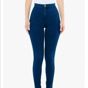 "American Apparel the ""easy jean"" high rise skinny"